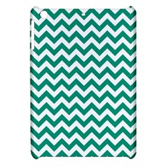 Emerald Green And White Zigzag Apple Ipad Mini Hardshell Case by Zandiepants