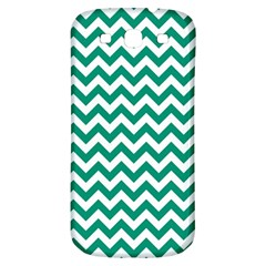 Emerald Green And White Zigzag Samsung Galaxy S3 S Iii Classic Hardshell Back Case by Zandiepants
