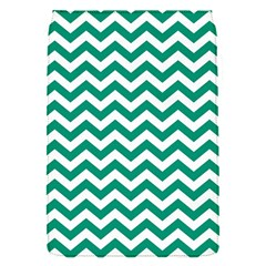 Emerald Green And White Zigzag Removable Flap Cover (small) by Zandiepants