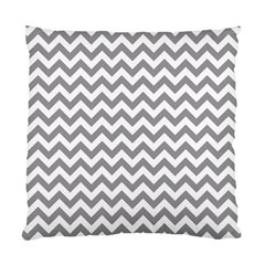 Grey And White Zigzag Cushion Case (two Sided)  by Zandiepants