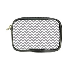 Grey And White Zigzag Coin Purse by Zandiepants