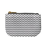 Grey And White Zigzag Coin Change Purse Front