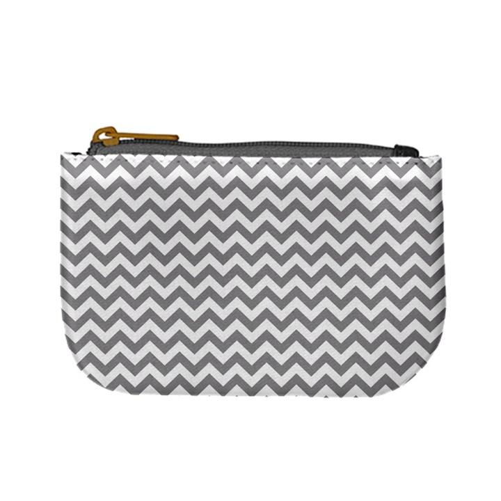 Grey And White Zigzag Coin Change Purse