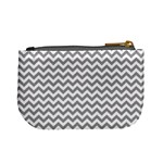 Grey And White Zigzag Coin Change Purse Back