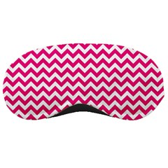 Hot Pink And White Zigzag Sleeping Mask by Zandiepants
