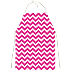Hot Pink And White Zigzag Apron by Zandiepants