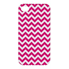 Hot Pink And White Zigzag Apple Iphone 4/4s Hardshell Case by Zandiepants
