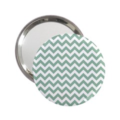 Jade Green And White Zigzag Handbag Mirror (2 25 ) by Zandiepants