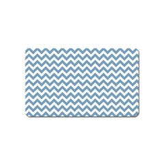 Blue And White Zigzag Magnet (name Card) by Zandiepants