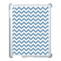 Blue And White Zigzag Apple Ipad 3/4 Case (white) by Zandiepants