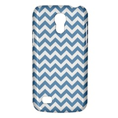 Blue And White Zigzag Samsung Galaxy S4 Mini (gt I9190) Hardshell Case  by Zandiepants