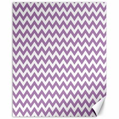 Lilac And White Zigzag Canvas 16  X 20  (unframed) by Zandiepants