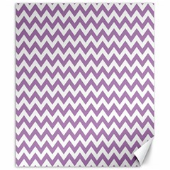 Lilac And White Zigzag Canvas 20  X 24  (unframed) by Zandiepants