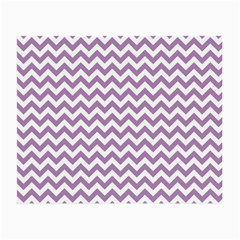Lilac And White Zigzag Glasses Cloth (small, Two Sided) by Zandiepants
