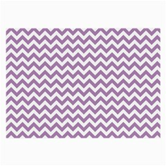 Lilac And White Zigzag Glasses Cloth (large, Two Sided) by Zandiepants
