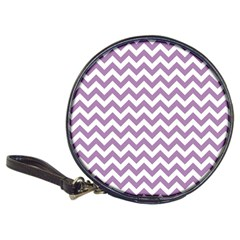 Lilac And White Zigzag Cd Wallet by Zandiepants