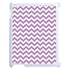 Lilac And White Zigzag Apple Ipad 2 Case (white) by Zandiepants