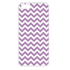 Lilac And White Zigzag Apple Iphone 5 Seamless Case (white) by Zandiepants