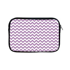 Lilac And White Zigzag Apple Ipad Mini Zippered Sleeve