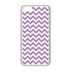 Lilac And White Zigzag Apple Iphone 5c Seamless Case (white) by Zandiepants
