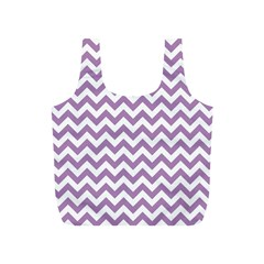 Lilac And White Zigzag Reusable Bag (s) by Zandiepants
