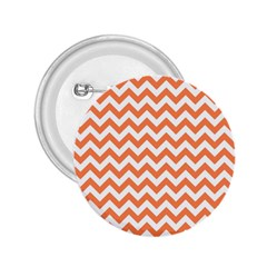 Orange And White Zigzag 2 25  Button by Zandiepants