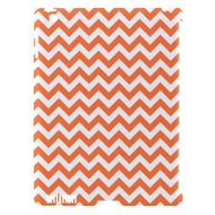 Orange And White Zigzag Apple Ipad 3/4 Hardshell Case (compatible With Smart Cover) by Zandiepants