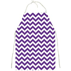 Purple And White Zigzag Pattern Apron by Zandiepants