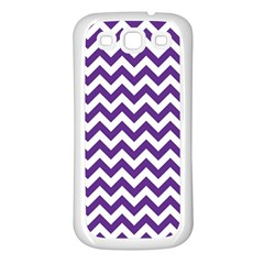 Purple And White Zigzag Pattern Samsung Galaxy S3 Back Case (white)
