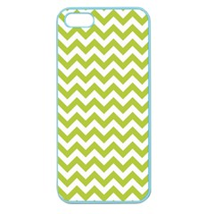 Spring Green And White Zigzag Pattern Apple Seamless Iphone 5 Case (color) by Zandiepants