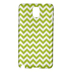 Spring Green And White Zigzag Pattern Samsung Galaxy Note 3 N9005 Hardshell Case by Zandiepants