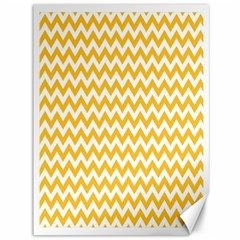 Sunny Yellow And White Zigzag Pattern Canvas 36  X 48  (unframed) by Zandiepants