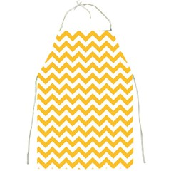 Sunny Yellow And White Zigzag Pattern Apron by Zandiepants