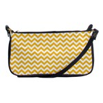 Sunny Yellow And White Zigzag Pattern Evening Bag Front