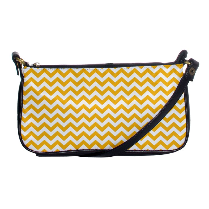 Sunny Yellow And White Zigzag Pattern Evening Bag
