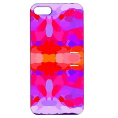 Purple, Pink And Orange Tie Dye  By Celeste Khoncepts Com Apple Iphone 5 Hardshell Case With Stand by Khoncepts