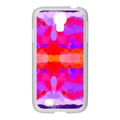 Purple, Pink And Orange Tie Dye  By Celeste Khoncepts Com Samsung Galaxy S4 I9500/ I9505 Case (white) by Khoncepts