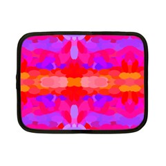 Purple, Pink And Orange Tie Dye  By Celeste Khoncepts Com Netbook Sleeve (small)