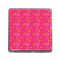 Psychedelic Kaleidoscope Memory Card Reader With Storage (square) by StuffOrSomething
