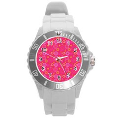 Psychedelic Kaleidoscope Plastic Sport Watch (large) by StuffOrSomething