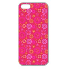 Psychedelic Kaleidoscope Apple Seamless Iphone 5 Case (clear) by StuffOrSomething