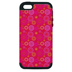 Psychedelic Kaleidoscope Apple Iphone 5 Hardshell Case (pc+silicone) by StuffOrSomething