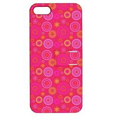 Psychedelic Kaleidoscope Apple Iphone 5 Hardshell Case With Stand by StuffOrSomething