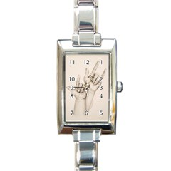 I Love You Rectangular Italian Charm Watch by TonyaButcher