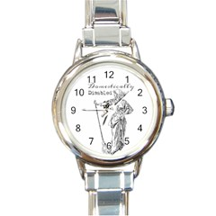Domestically Disabled Round Italian Charm Watch by StuffOrSomething