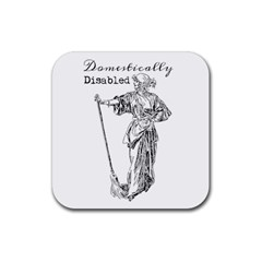 Domestically Disabled Drink Coaster (square) by StuffOrSomething