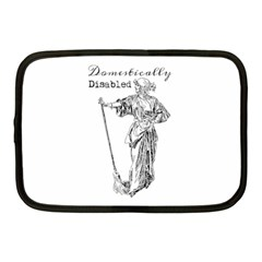 Domestically Disabled Netbook Sleeve (medium) by StuffOrSomething
