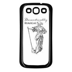 Domestically Disabled Samsung Galaxy S3 Back Case (black) by StuffOrSomething