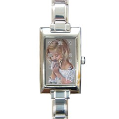 Prayinggirl Rectangular Italian Charm Watch