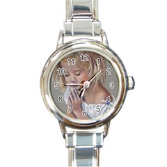 Prayinggirl Round Italian Charm Watch